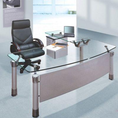 bàn làm việc hòa phát mặt kính