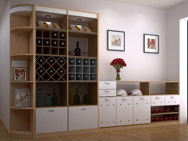 tủ rượu âm tường phòng khách