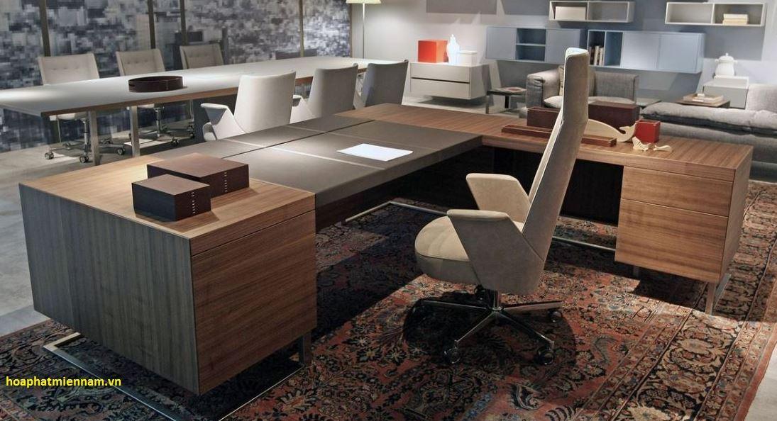 bàn ghế làm việc giám đốc hiện đại