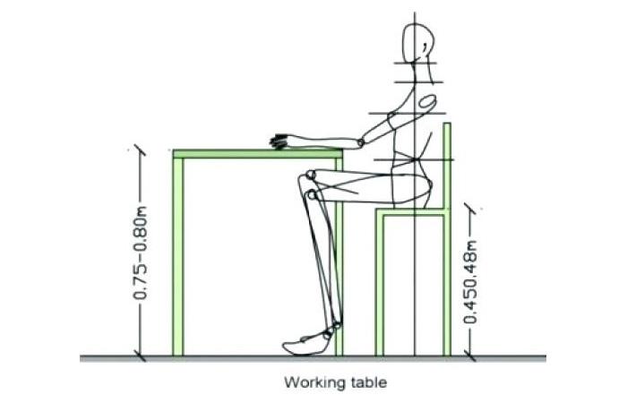 Kích thước tiêu chuẩn ghế văn phòng 2021