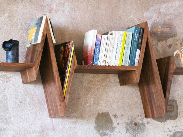 Kệ sách treo tường gỗ