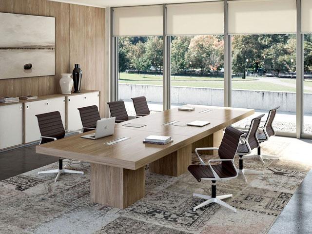 bàn họp gỗ công nghiệp