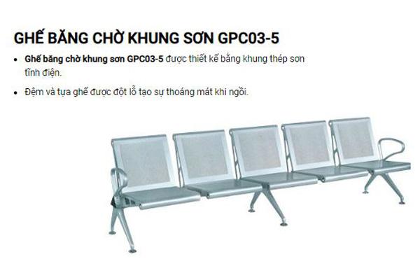 Ghế phòng chờ khung sơn cao cấp GPC03-5